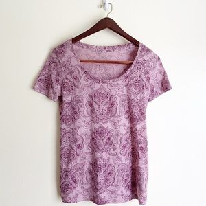 Urban Outfitters Paisley V Neck Cotton T-shirt